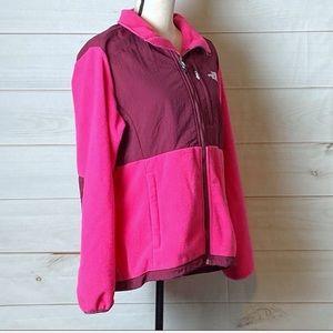 The North Face Pink/Purple Fleece Jacket Sz LG